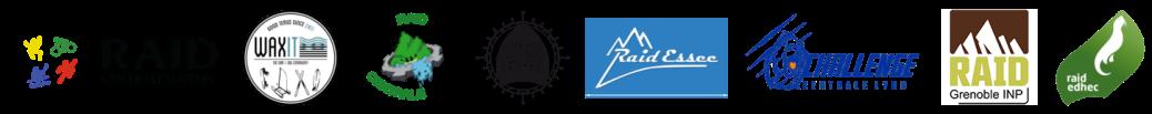 Barre de logos d'événements sportifs étudiants partenaires