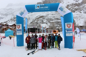 Photo d'équipe challenge ski