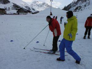 Premières sensations en ski de fond  lors de l'épreuve de biathlon