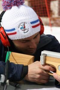 Jordan lors de l'épreuve de biathlon sonore