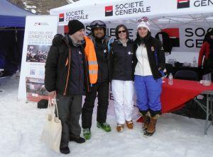 Dalibor, Jaya et Clothilde avec Marie BOCHET, quadruple médaillée d'or aux Jeux Paralympique